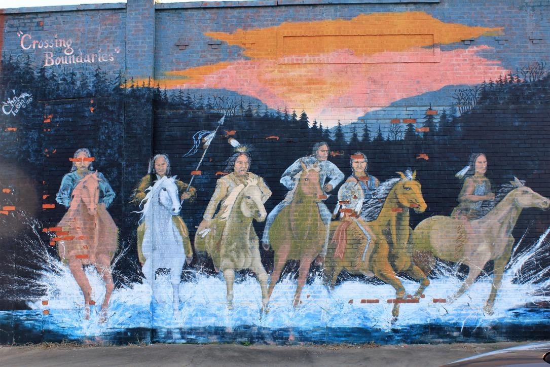 Osage mural, Hominy, Oklahoma