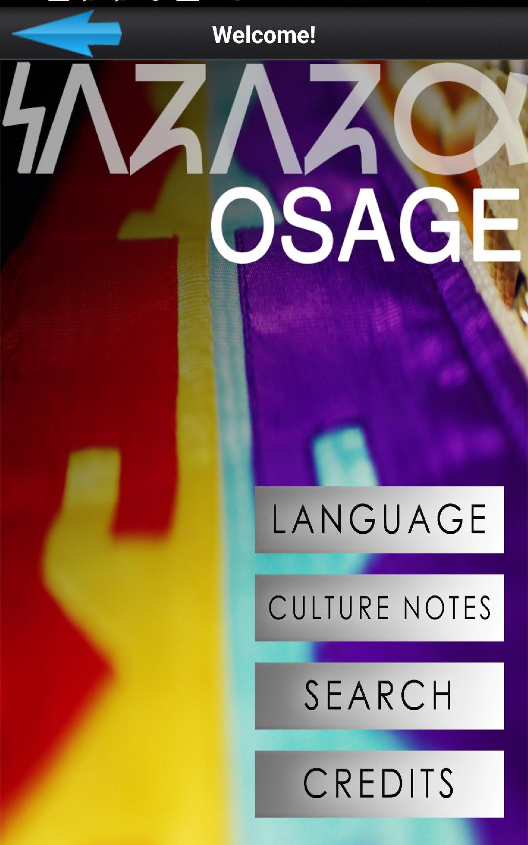 Osage Language Mobile Application
