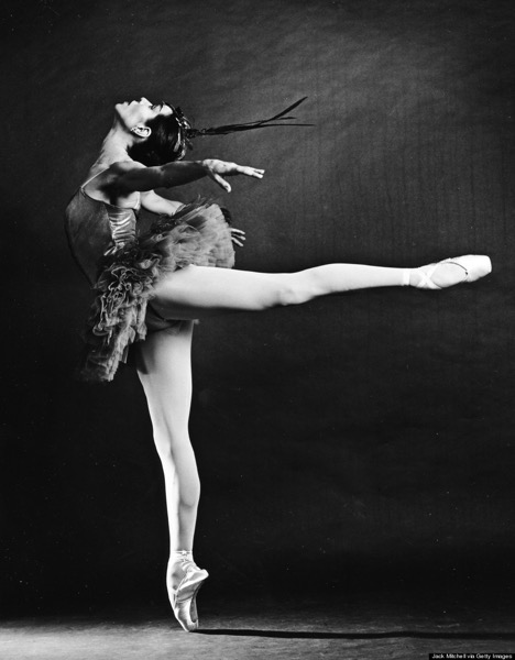 "Maria Tallchief performing ""Firebird"" at the NYC Ballet on September 19, 1963. Photo by Jack Mitchell/Getty Images"